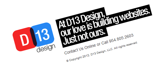 D13 Design Corporate Site