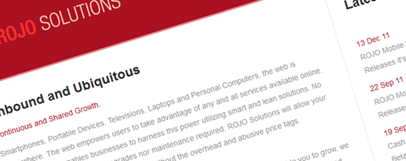ROJO Solutions Corporate Site
